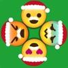 圣诞节绘文字 Emoji Circle Wheels : 转转圣诞老人节日开心可爱表情符号图标动动乐键盘益智游戏