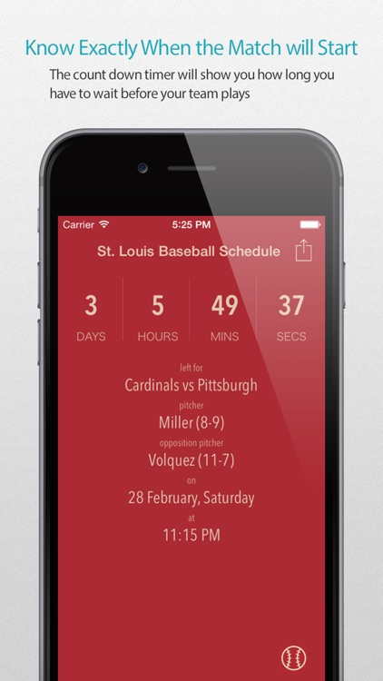 St. Louis Baseball Schedule Pro — News, live commentary, standings and more for your team!