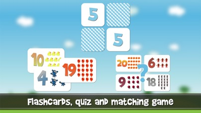 Numbers game 1 to 20 flashcards screenshot one