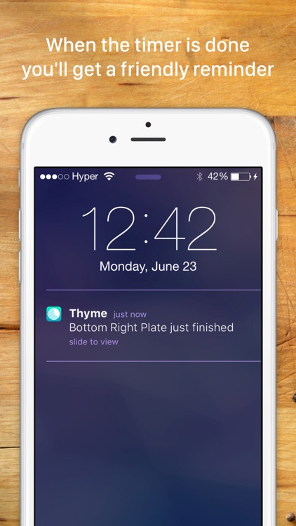 Thyme: A kitchen timer for your culinary arts screenshot-3