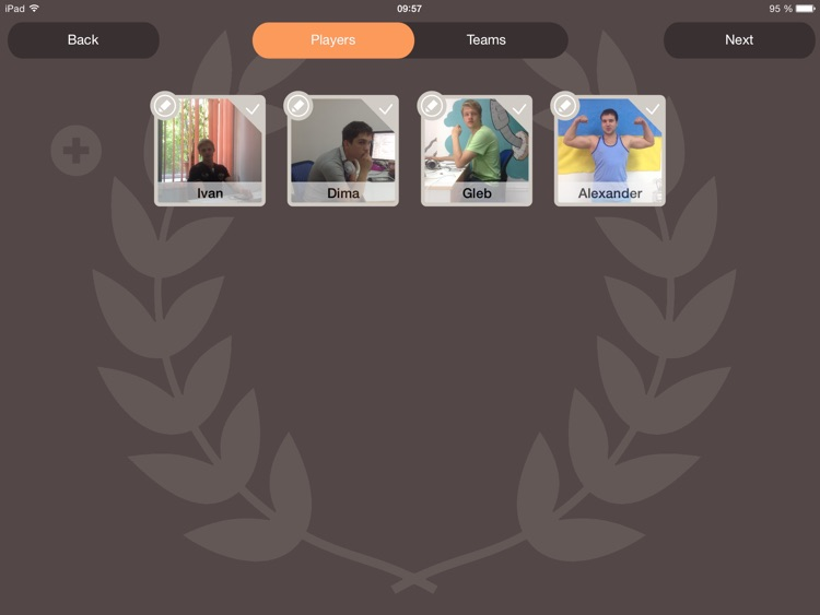 Tournaments PRO. Board for Team Games (Create, Track, Play and Win)! screenshot-1