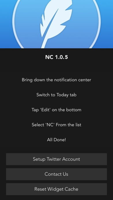 NC - Twitter Widget for Notification Center Screenshot