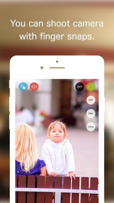 Self Timer·Finger snap detection - SnapCamera for Selfies Screenshot
