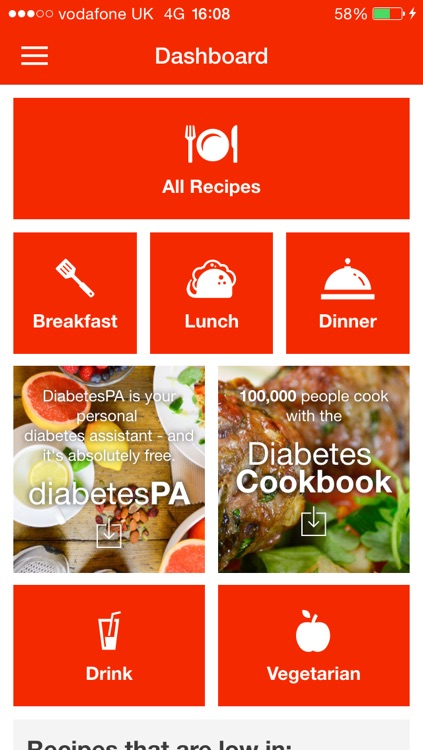 Diabetes Recipe App screenshot-4