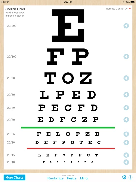 Eye Chart Pro - Test Vision and Visual Acuity better with Snellen, Sloan, ETDRS, and Near Vision Exams! screenshot-4