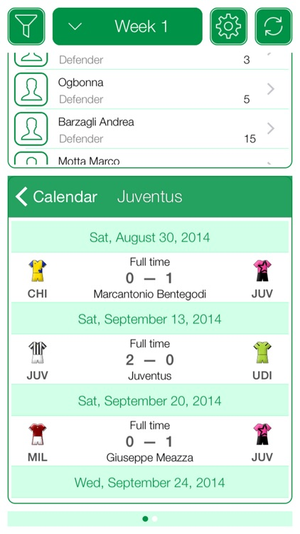 Italian Football Serie A 2015-2016 - Mobile Match Centre