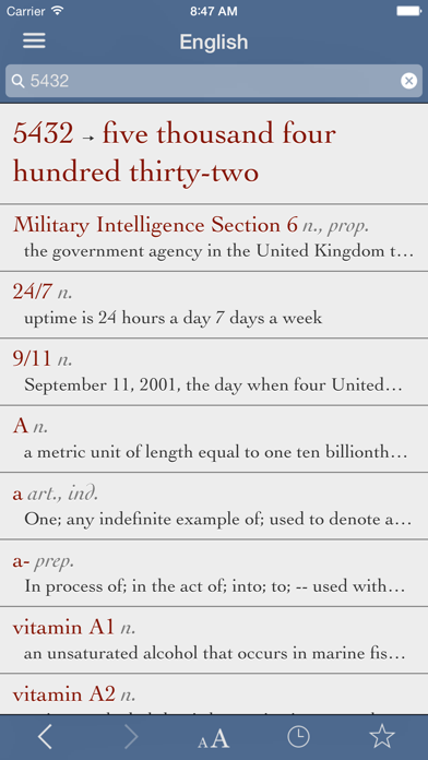 English Dictionary and Thesaurus with Verbs screenshot three