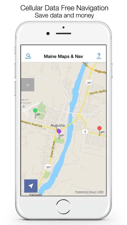 Maine Offline Maps & Offline Navigation screenshot-0