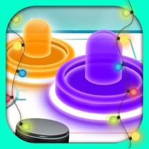 Glow Snow Hockey HD - A Christmas Airhockey Simulation Game