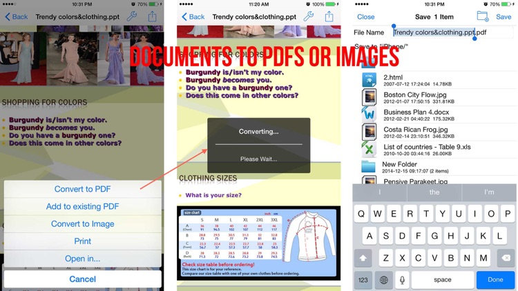 Cool Converter - Convert documents, Web Pages to  PDF or Images screenshot-3