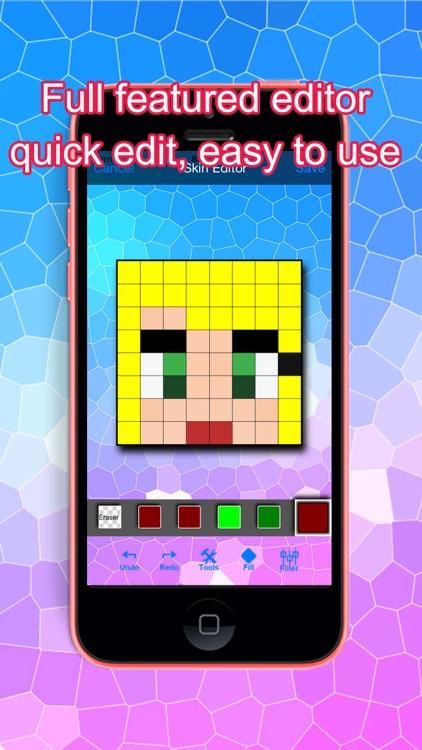 PE Girl Skins for Minecraft Pocket Edition screenshot-3