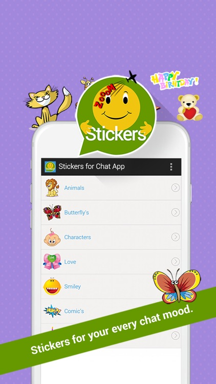 free stickers for chat app by mobyi apps. Black Bedroom Furniture Sets. Home Design Ideas