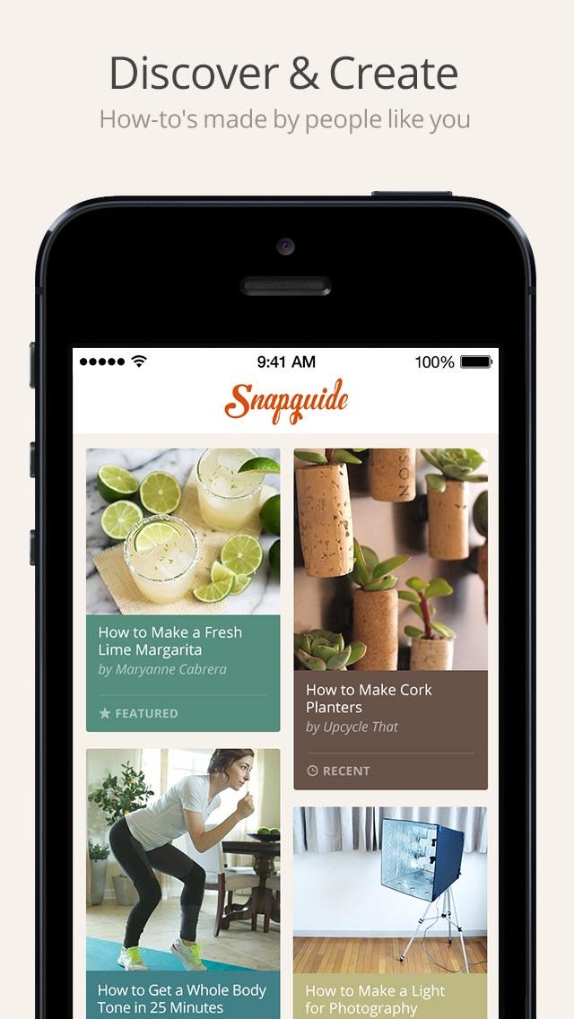 Snapguide review screenshots