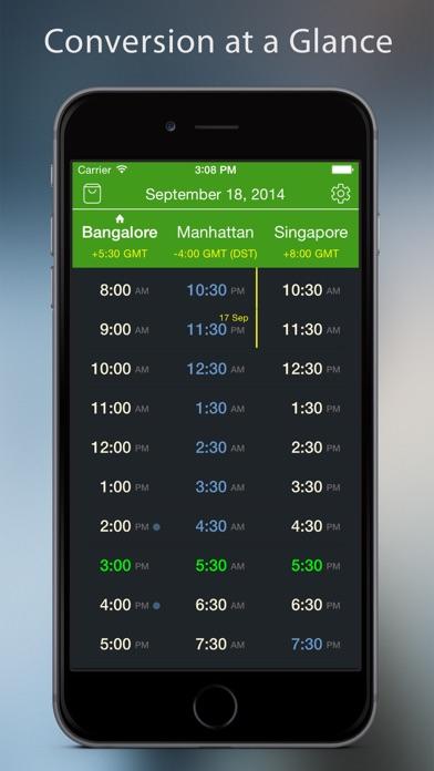 World TimeZlider - Convert time, schedule and shareScreenshot of 1