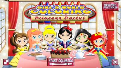Princess Coloring World: My Fairy Tail Paint, Play and Draw