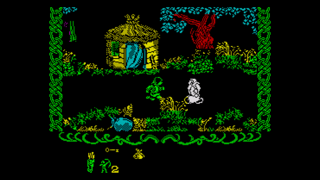 Screenshot from Robin Of The Wood (ZX Spectrum)