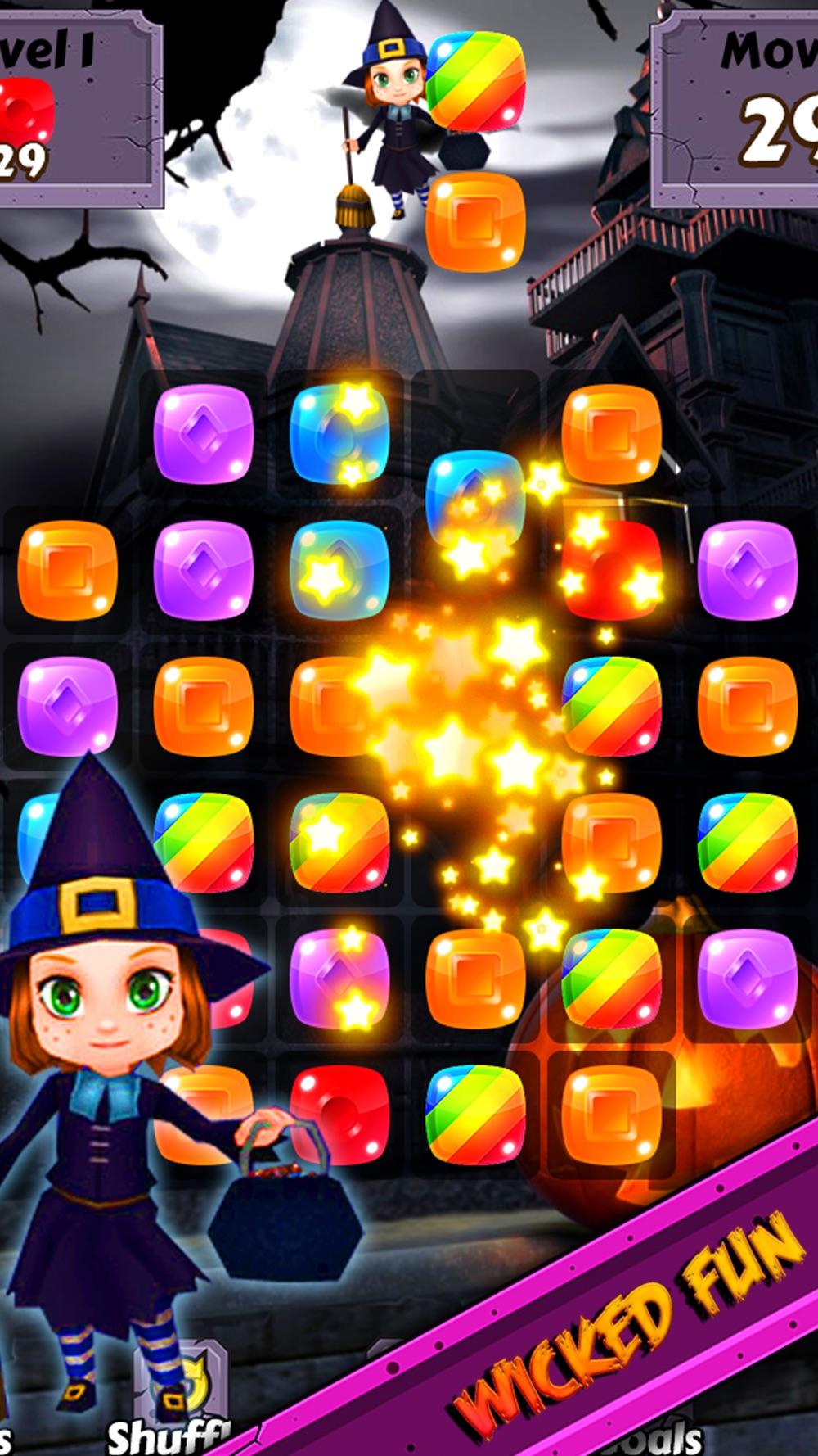 Halloween Candy World Adventure – Pop the gummy drop & match yummy treats to collect skull gems