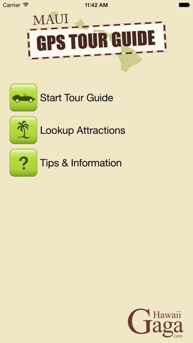 Maui GPS Tour Guide Screenshot