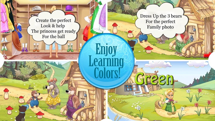 Dress Up Fairy Tale Game - Learn Colors All in One HD