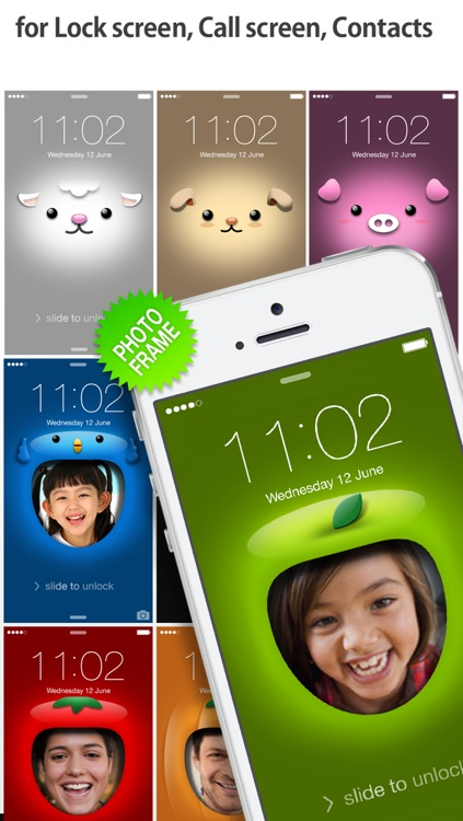 iFaceMaker ( Cute and funny faces ) : for Lock screen, Call screen, Contacts profile photo, instagram screenshot-1