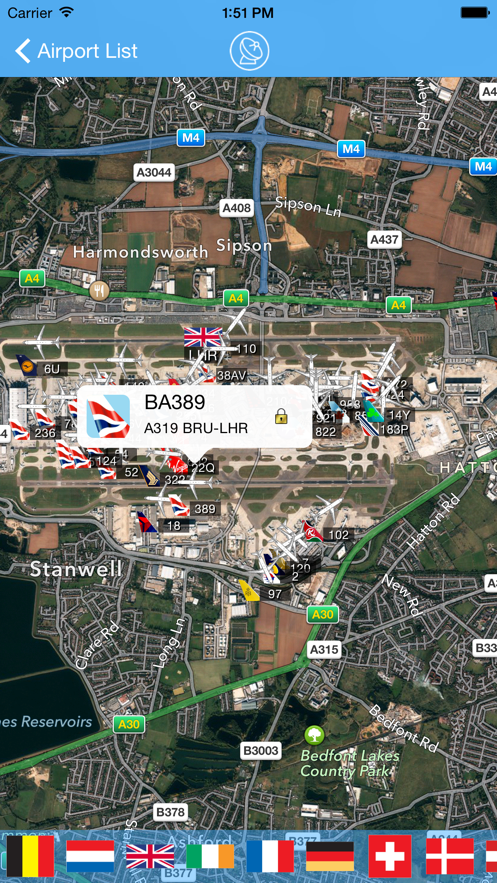 London Heathrow iPlane Flight Information App 截图