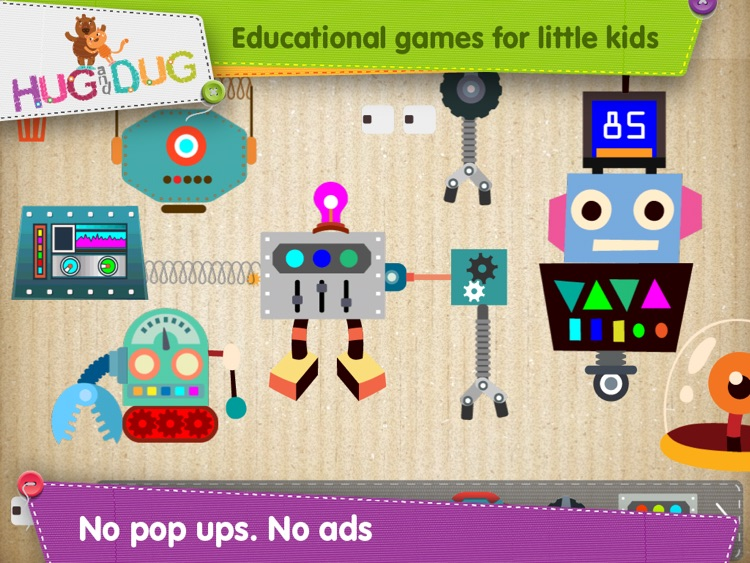 HugDug Robots - Little kids and toddlers build amazing robots and crazy machines screenshot-4