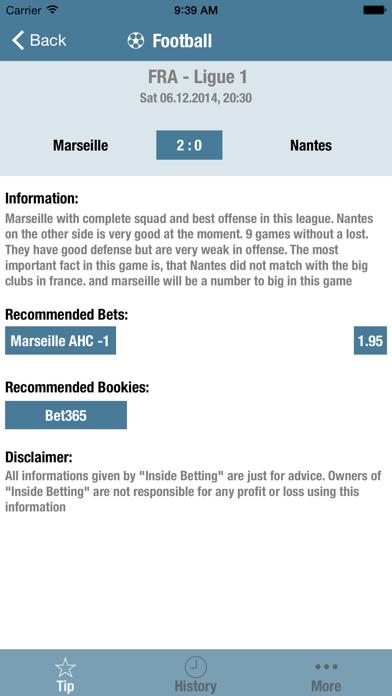 Inside Betting screenshot three