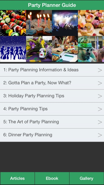 Party Planner Guide - A Guide To Planning Perfect Your Party! screenshot-0