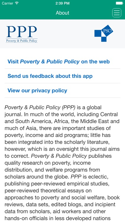 Poverty & Public Policy screenshot-3