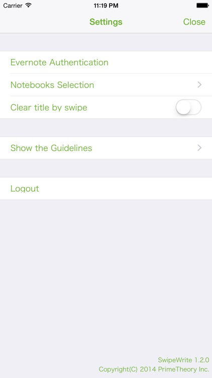 SwipeWrite - Quick Notes to Evernote -