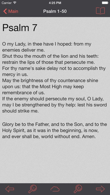 Catholic Psalter of the Blessed Virgin Mary screenshot-0