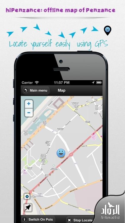 hiPenzance: offline map of Penzance
