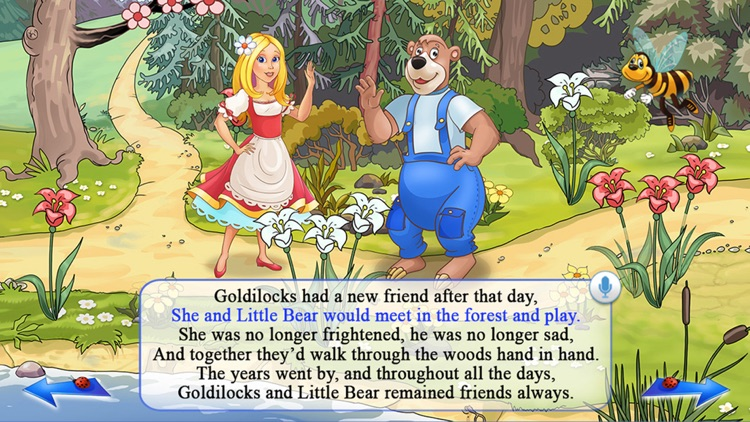 Goldilocks and the Three Bears - All In One Education Center & Interactive Storybook for Kids screenshot-4
