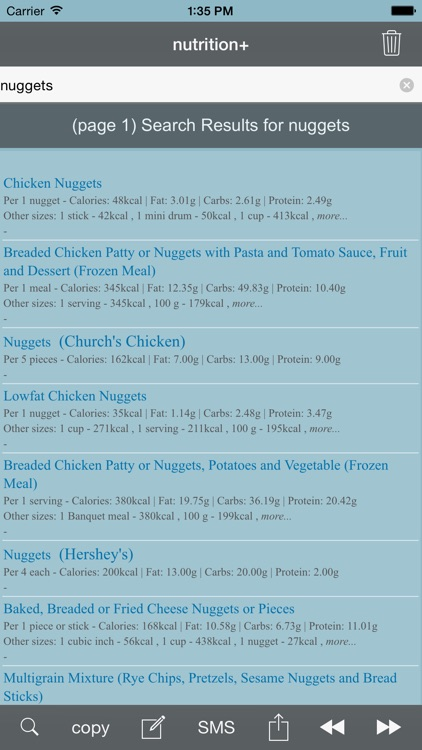 nutrition+: Food & Calorie Information and Nutritional Content