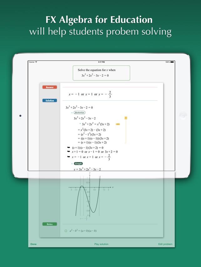 FX Algebra for Education on the App Store