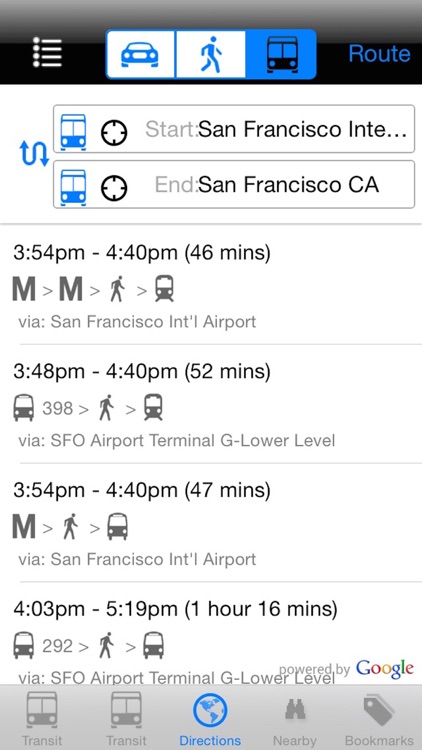 My SF Muni Next Bus - Public Transit Search and Trip Planner screenshot-4