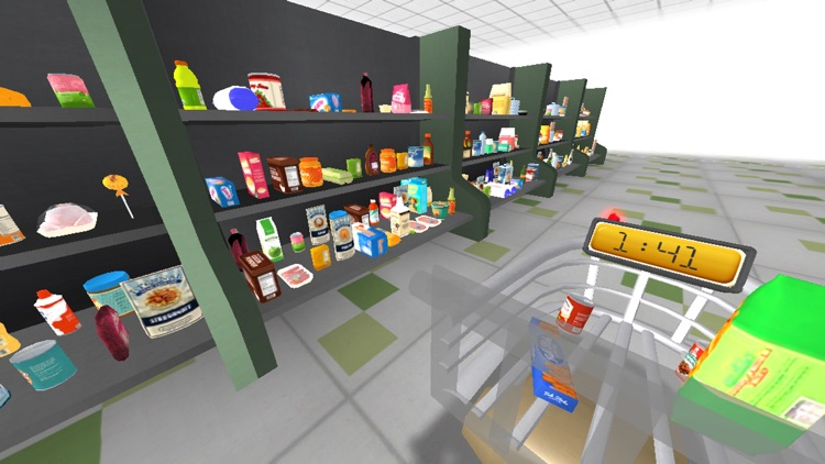 Virtual Reality Hidden Objects : the shopping list