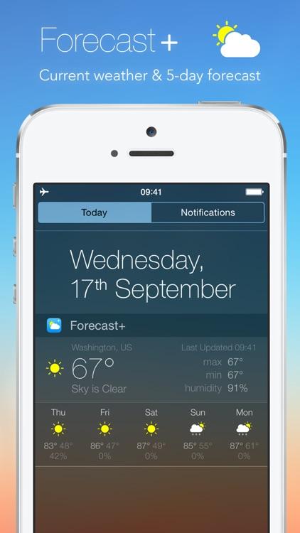 Forecast+ | Weather & Forecast Widget