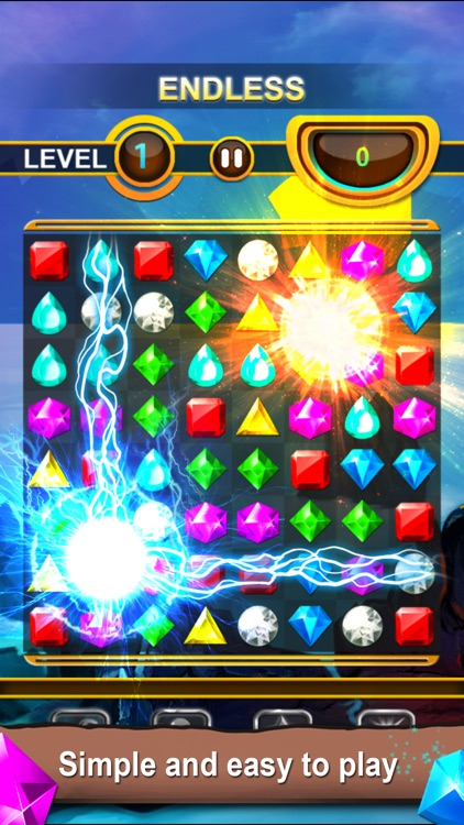 Jewels Quest - Classic Match-3 Puzzle Game screenshot-4