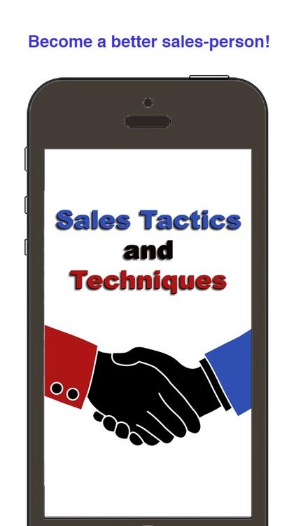 Sales Training: Tactics and Techniques