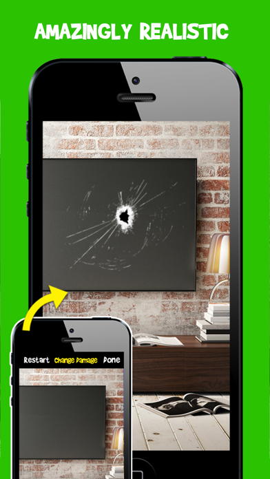Damage Cam - Fake Prank Photo Editor Booth Screenshot on iOS