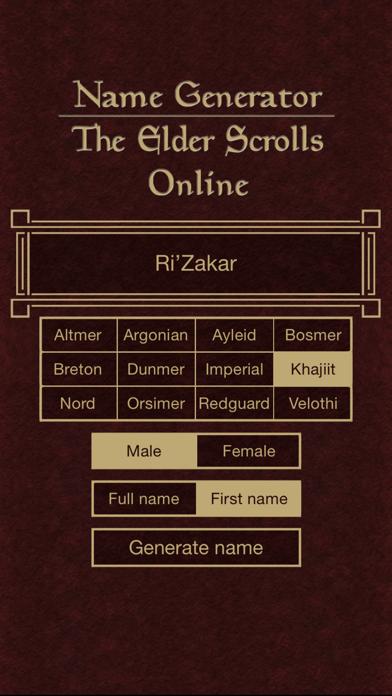 Name Generator for The Elder Scrolls Onlineのおすすめ画像5