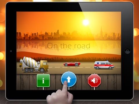 На дороге - головоломки для малышей и детей на iPad