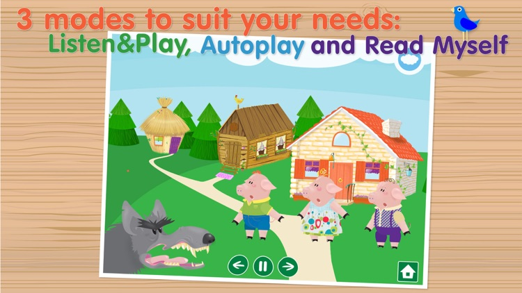 The Three Little Pigs - Interactive bedtime story book screenshot-3