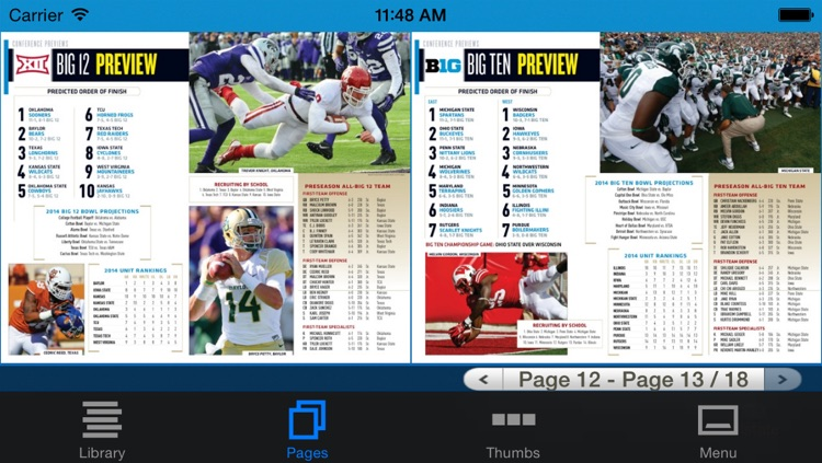 Allstate College Football Magazine screenshot-4