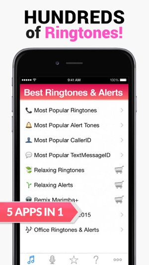 2015 Best Ringtones for iPhone - 5 Apps in 1 on the App Store