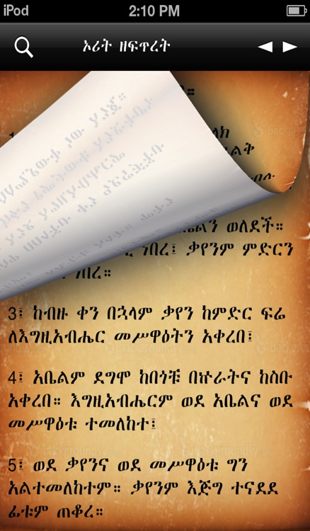 Amharic Bible screenshot-2