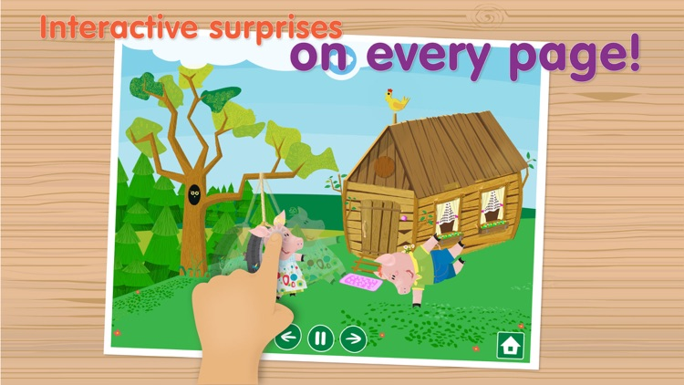 The Three Little Pigs Free - Interactive bedtime story book screenshot-3