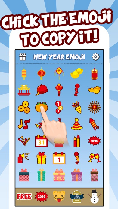 New Year Emoji - Holiday Emoticon Stickers & Emojis Icons for Message Greeting screenshot four