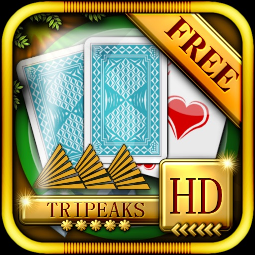 ACC Solitaire [ TriPeaks ] HD Free - Classic Card Games for iPad & iPhone iOS App